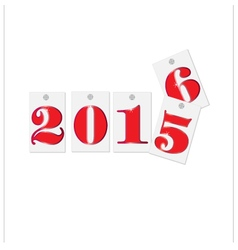 Happy new year 2016 text design vector