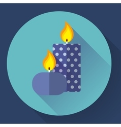 Candle icon - vector