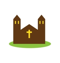 Flat web icon on white background church vector