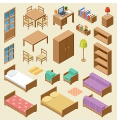 Isometric furniture set vector