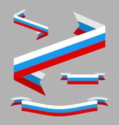 Tape flag of russia design elements patriotic vector