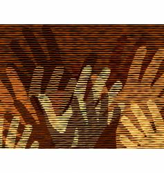 Waving hands vector