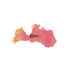 Abstract latvia map vector