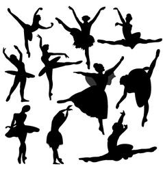 Ballet ballerina silhouette vector