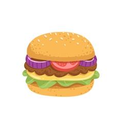 Big juicy burger vector