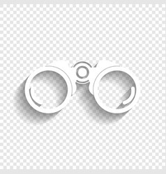 Binocular sign white icon vector
