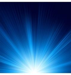 Blue star burst background vector image