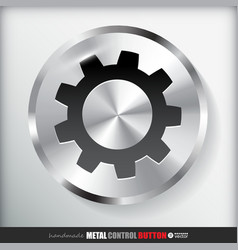 Circle metal settings button vector
