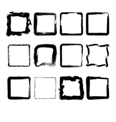 Collection of hand drawn squares vector