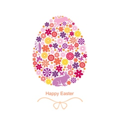 easter flover egg vector image vector image