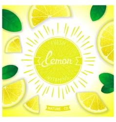 Fresh lemon vitamins vector image