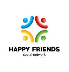 Happy friends poster vector