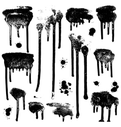 Ink splatters Grunge design elements collection vector image vector image