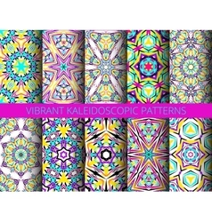 Kaleidoscopic patterns collection vector