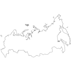 Map of Russia vector image vector image