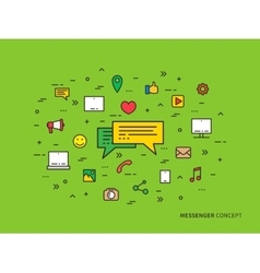 Messenger chat communication colorful linear vector