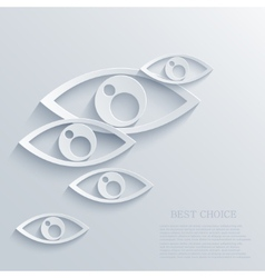 modern eyes background Eps 10 vector image