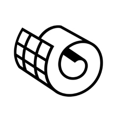 Netting roll icon vector