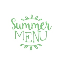 New Summer Menu Calligraphic Cafe Board vector image