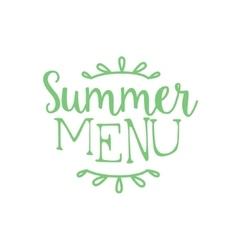 New summer menu calligraphic cafe board vector