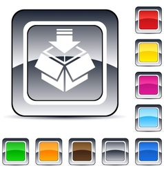 package square button vector image vector image