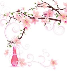sakura parfume vector image