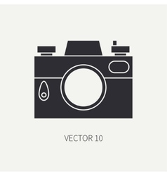 Silhouette flat icon with retro analog film vector