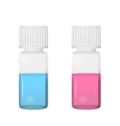 Small vials with screw caps vector