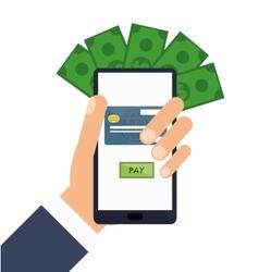 Smartphone payment bills online vector