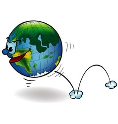 Smiling earth vector