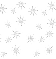 Snowflakes pattern christmas background vector