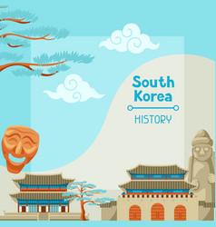 south korea history korean banner design with vector image