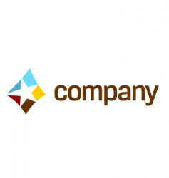 Star logo for company vector
