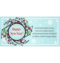 Stylish festive greeting card vector image