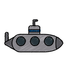 submarine war ship vector image vector image