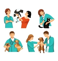 Veterinary people set vector