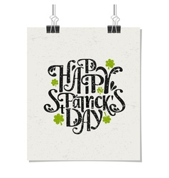 Vintage typographic poster for st patricks day vector