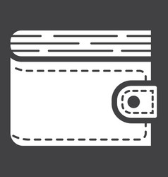 Wallet glyph icon business and finance purse vector