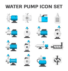 water pump icon vector image