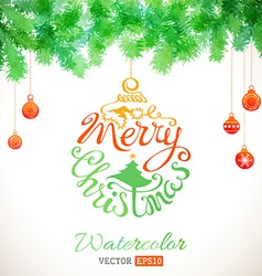 Watercolour Christmas card vector image vector image