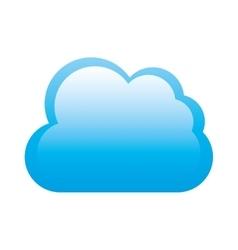 web cloud design vector image vector image