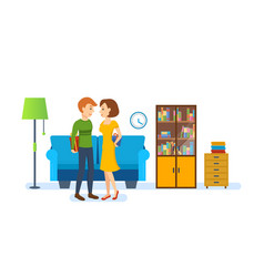 young couple in love vector image vector image