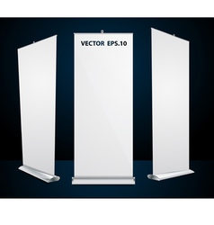 Roll up banner exhibition display vector