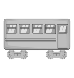 Rail car icon black monochrome style vector