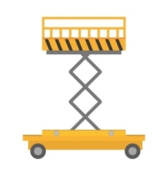 Lifting platform trolley stock warehouse vector