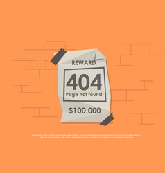 design 404 error template reports that the page vector image