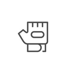 Fitness glove line icon vector
