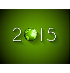 2015 flat style new year modern background vector