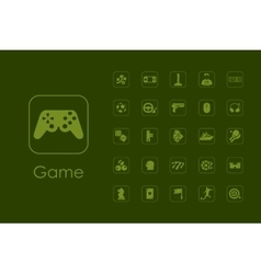 Set of gaming simple icons vector