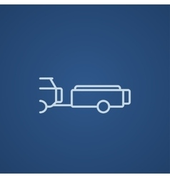 Car with trailer line icon vector